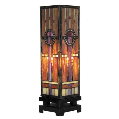 Picture of Circle Bead Pillar Tiffany Lamp