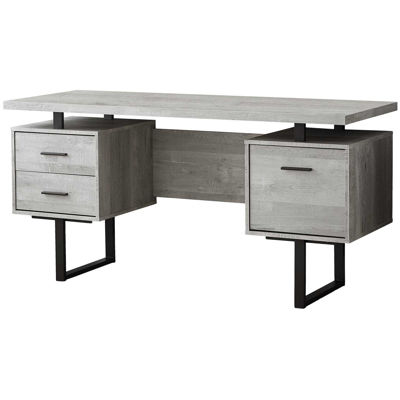 "Picture of Gray 60"" Computer Desk"