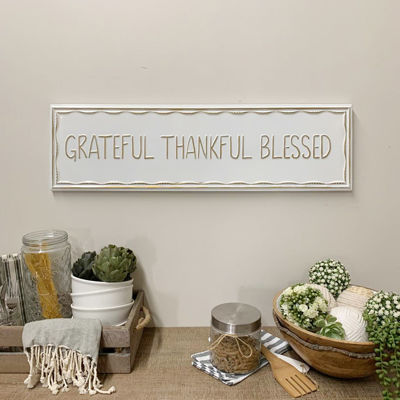 Picture of Grateful Thankful Wall Sign