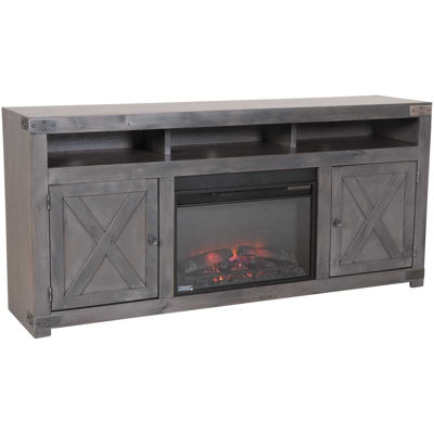 """Picture of Urban Farmhouse 72"""" Fireplace in Smoky Grey"""
