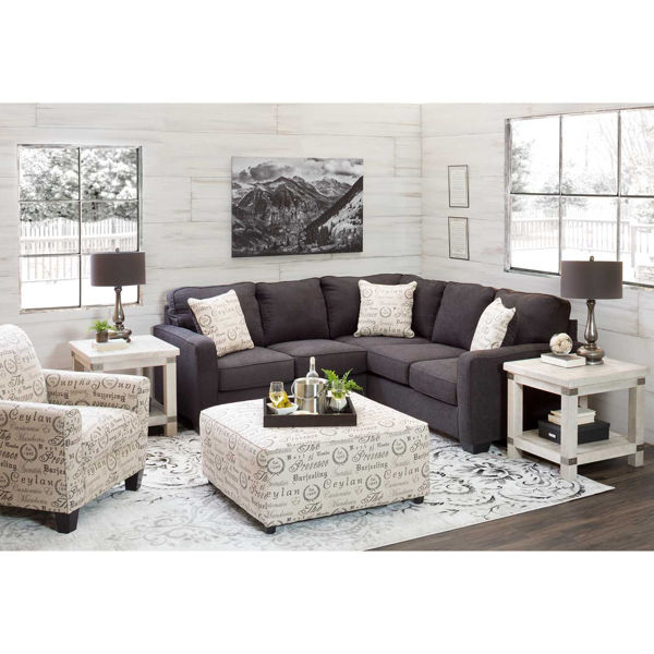 Picture of Aleyna Charcoal Sectional with RAF Sofa