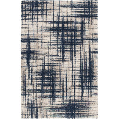 Picture of Ok Badger Cream Navy 8x10 Rug