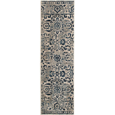 Picture of Milan Distressed Medallions 2x7 Rug