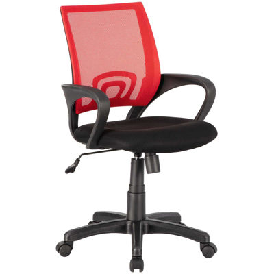 Picture of Red Mesh/Fabric Office Chair 1121-RD