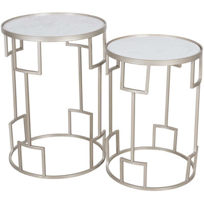 Picture of Set of Two Geometric Accent Tables