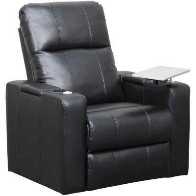 Picture of Black Power Recliner with Tray
