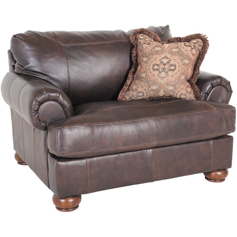 Axiom Walnut All-Leather Chair 0BB-420C
