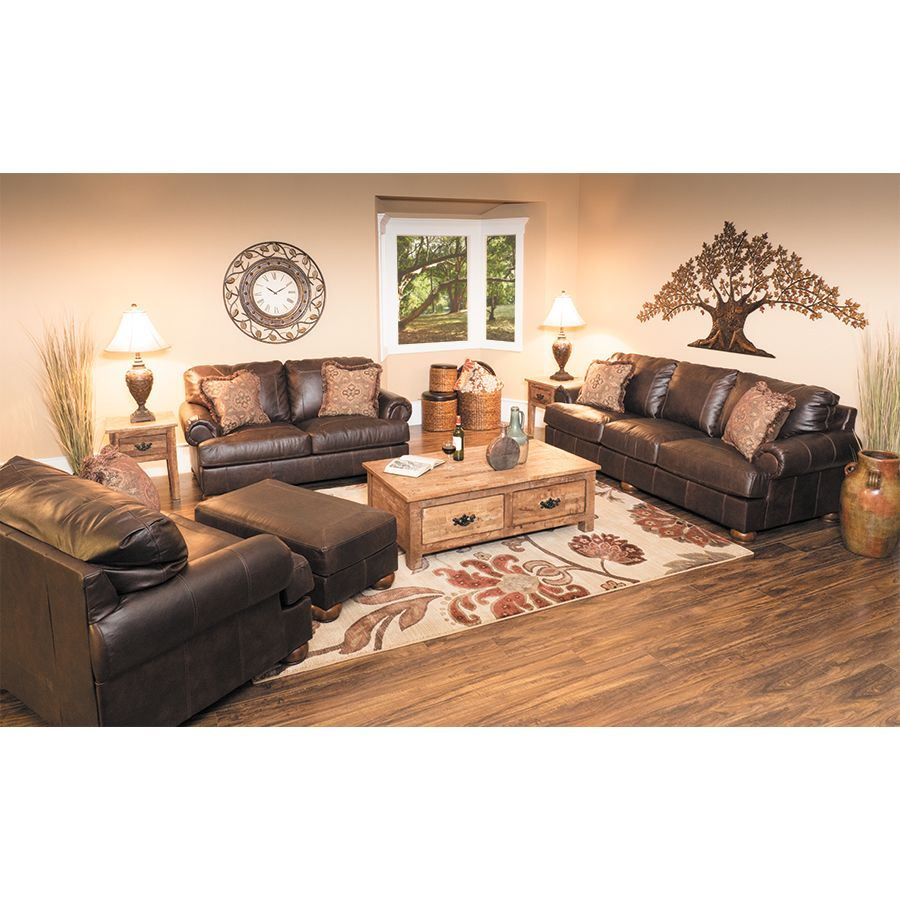 Axiom Walnut All Leather Loveseat 0bb 420l Ashley Furniture Afw