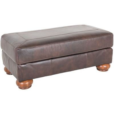 Picture of Axiom Walnut All-Leather Ottoman