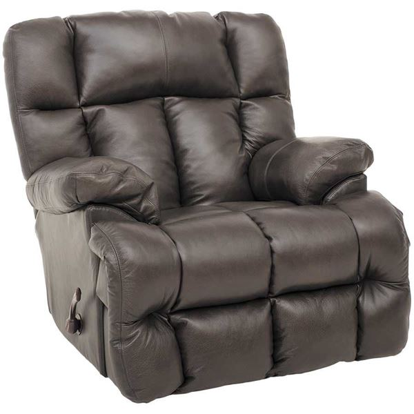 Steel Italian Leather Rocker Recliner 0k1 4764 Jackson