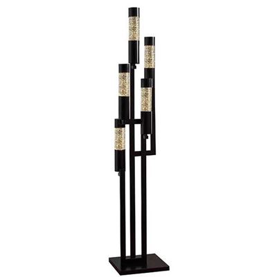 Picture of Dancing Lights Black Floor Lamp