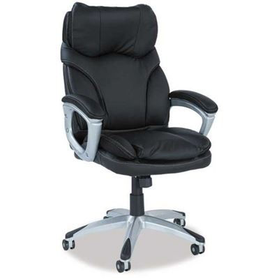 Imagen de Grey Leather Look Office Chair