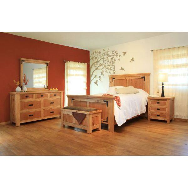 5 piece lodge bedroom set 104 5pc artisan home afw. Black Bedroom Furniture Sets. Home Design Ideas