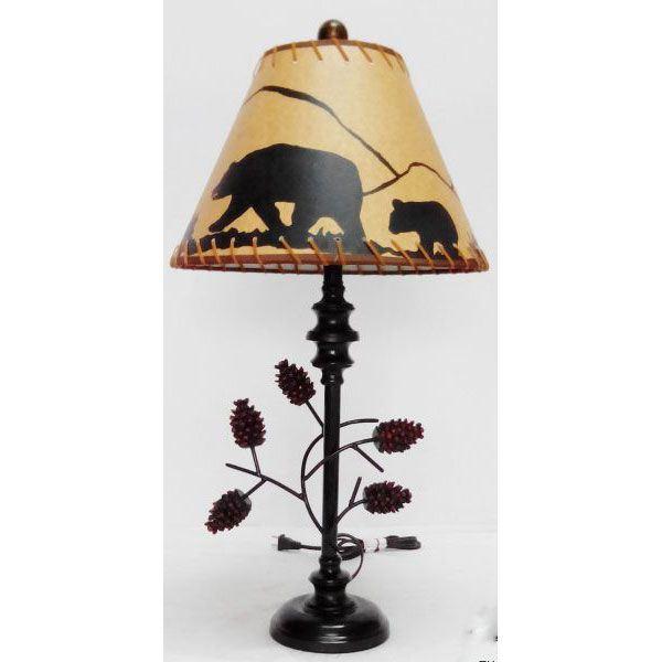 Pine Cone Table Lamp Bear Shad 109 14953 Rt14953 Hmh