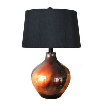 Picture of Bronze and Black Ceramic Table Lamp