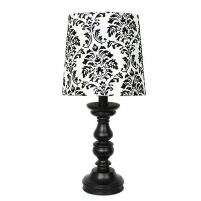 "Picture of 17"" Matte Black Accent Lamp"