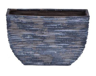 Picture of Blue Distressed Ceramic Vase