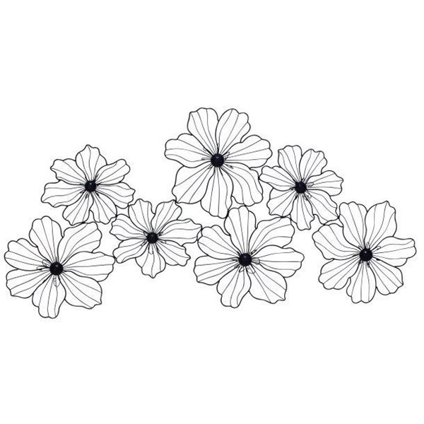 Metal Flowers Wall Decor metal flower wall decor | 122-58515 | uma enterprises | afw