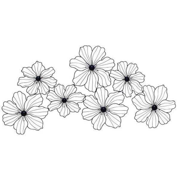 Metal Flower Wall Decor | 122-58515 | UMA ENTERPRISES | AFW