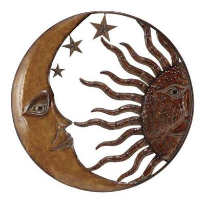 Picture of Metal Sun/Moon Wall Decor