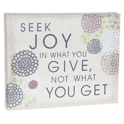 Picture of Seek Joy Give 10x8 Message Cube