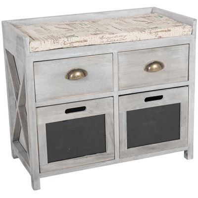 Picture of Paulownia Wooden Storage Bench