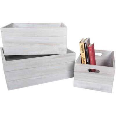 Picture of Paulownia Wood Crate, Set of 3