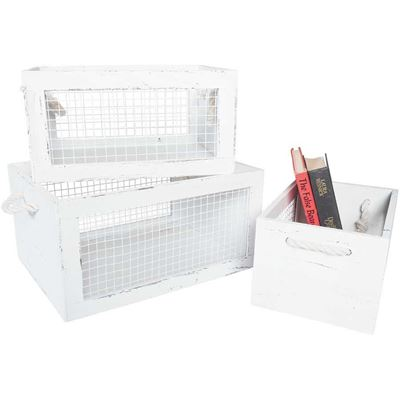 Picture of Paulownia Wooden Crate, 3 Piece Set