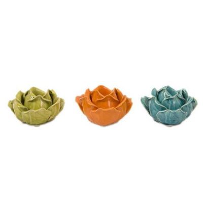 Picture of Set 3 Flower Candleholder
