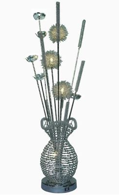 """Picture of 35"""" Lighted Metal Floral Centerpiece"""