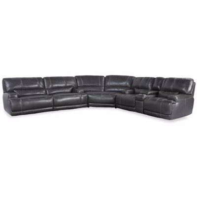 Picture of Gear Charcoal 3 Piece Leather Power Reclining Sectional