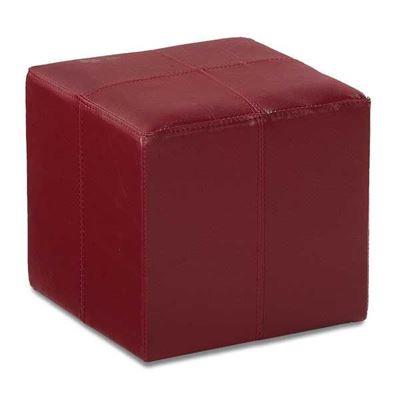 Imagen de Rubic Red Durahide Cube Ottoman