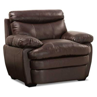 Picture of Stetson Walnut Leather Chair