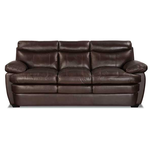 Picture Of Stetson Walnut Leather Sofa