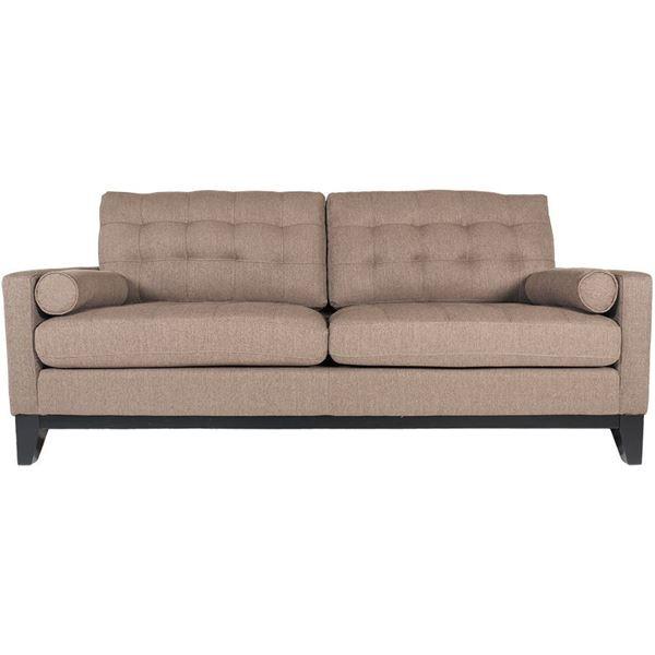 Nona Brown Tufted Sofa
