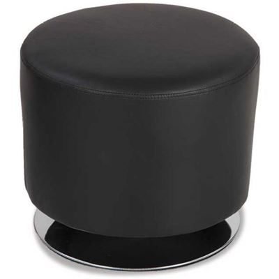 Picture of Black Round Swivel Ottoman