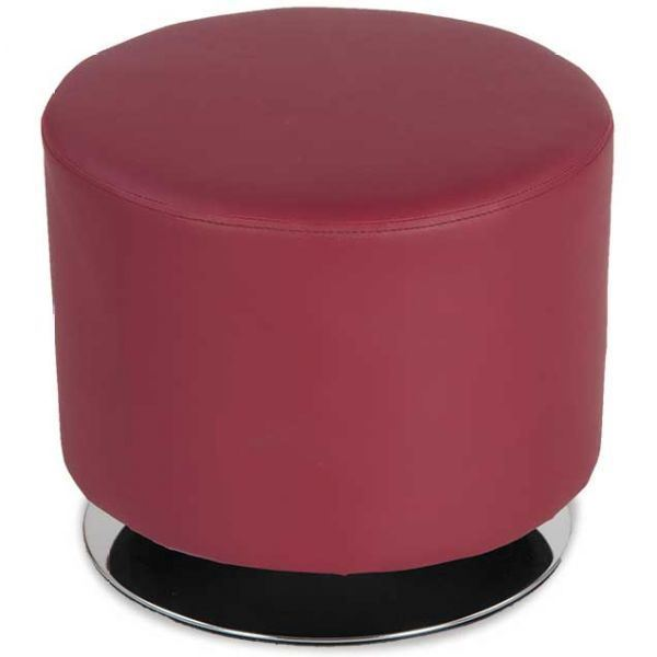 Picture Of Red Round Swivel Ottoman