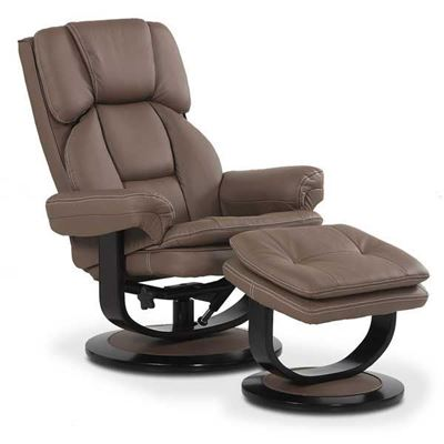 Picture of Lorin 2 Piece Taupe Stress-Free Recliner With Ottoman