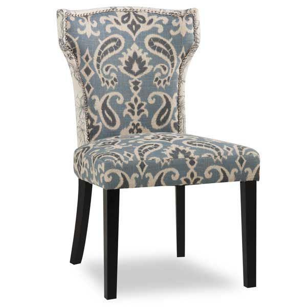 Jessen Blue Paisley Accent Chair - Jessen Blue Paisley Accent Chair 1D1-8292 AFW