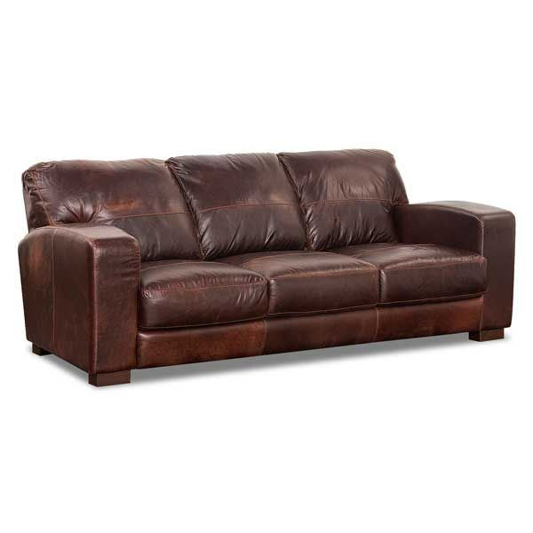 Soft Leather Sectional Sofa: Aspen All Leather Sofa 1G-4442S