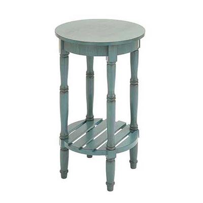 Picture of Blue Round Accent Table