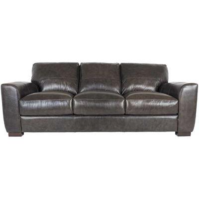Picture of Dark Grey Italian All Leather Sofa