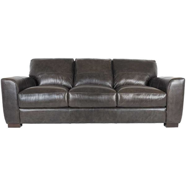 Dark Grey Italian All Leather Sofa 1p 4849s Soft Line Afw
