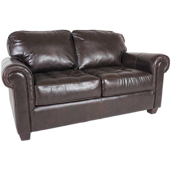 Cabernet Italian All Leather Loveseat