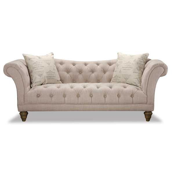 Hutton Natural Linen Sofa - Hutton Natural Linen Sofa 2G-3164S Emerald Home AFW