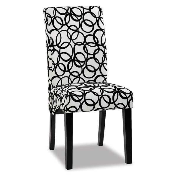 Circle Patterned Parsons Chair