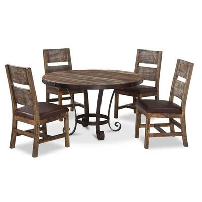 Imagen de Antique 5 Piece Dining Set Round