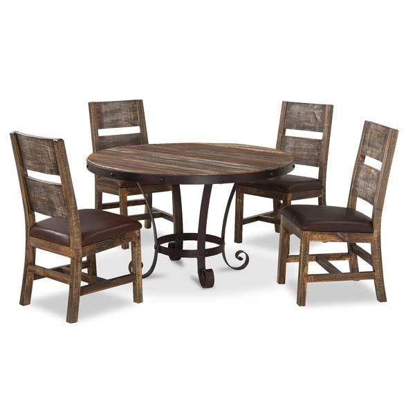 Antique 5 Piece Dining Set Round
