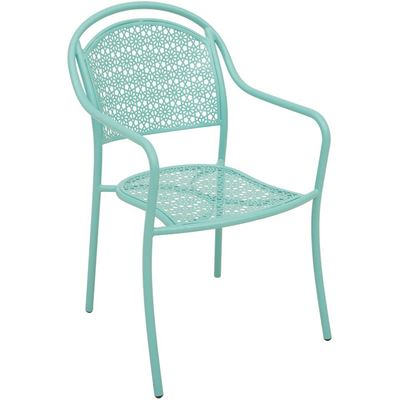 Picture of Aqua Stackable Arm Chair