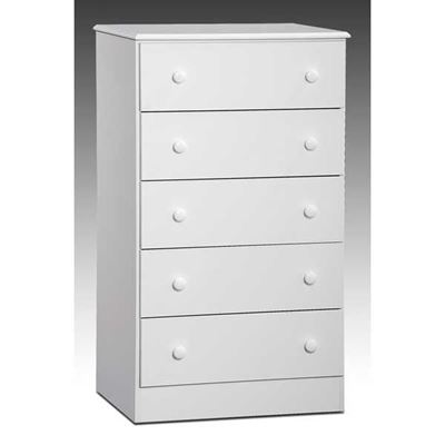 Picture of White 5 Drawer Chest